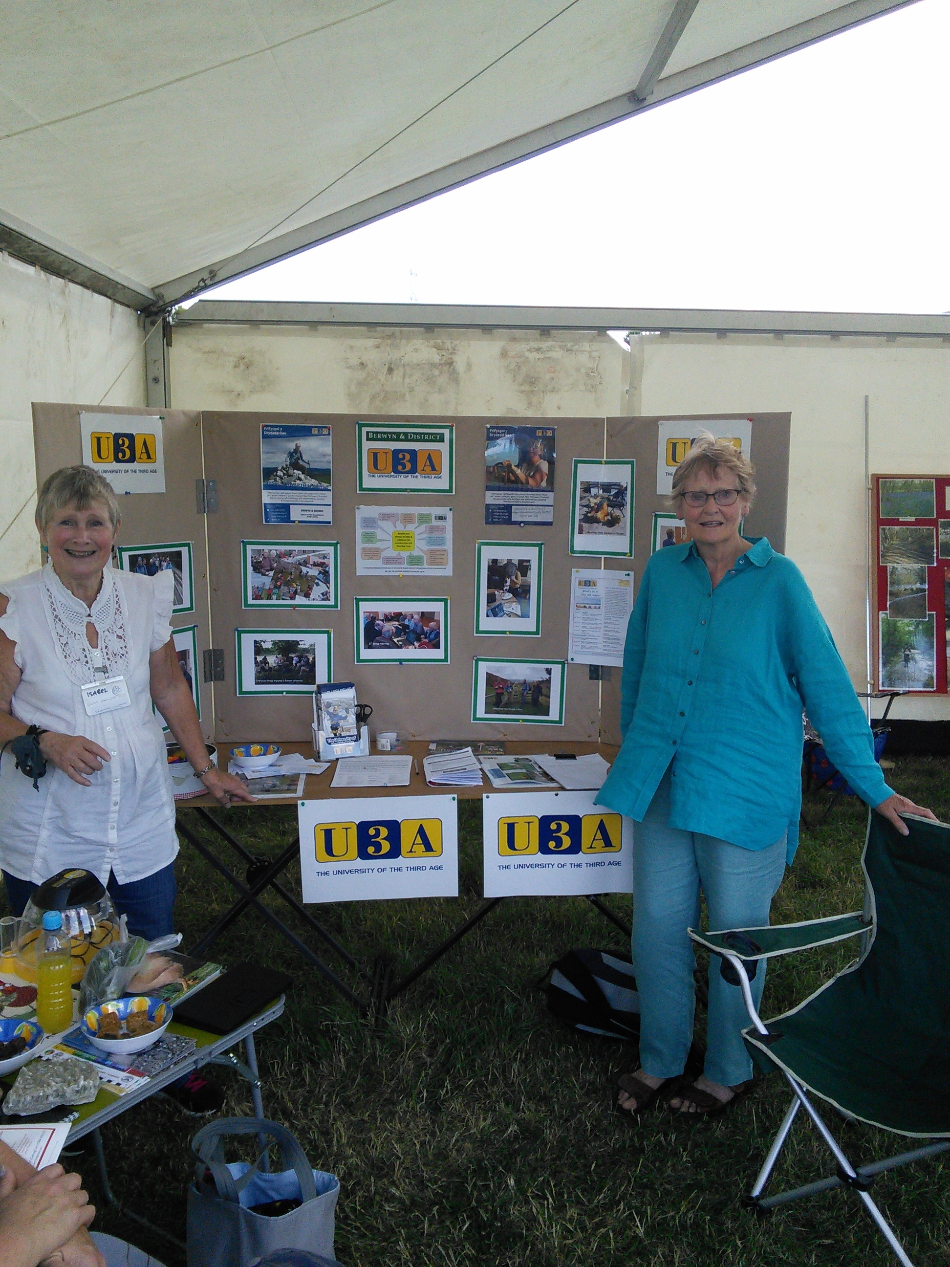 Isabel Stewart (left) and Sue Mortimer at the Bryneglwys Show on Saturday, August 5.