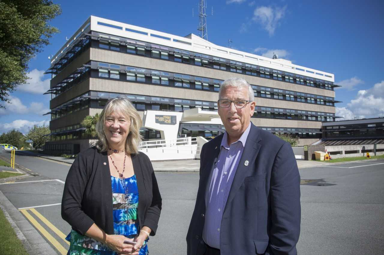 North Wales Police and crime commissioner Arfon Jones with deputy Ann Griffith