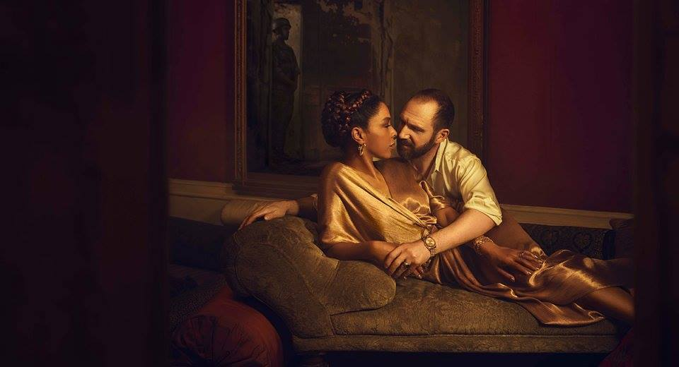 Sophie Okonedo and Ralph Fiennes as fated lovers Anthony and Cleopatra. Picture: Facebook/ Hebden Bridge Picture House