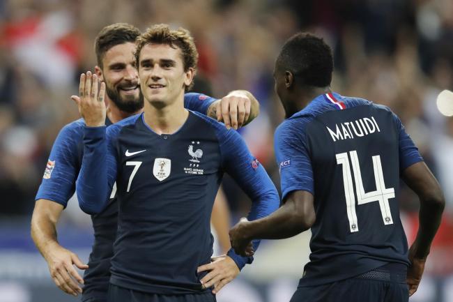 94d9d1188bca France forward Antoine Griezman in action against Germany. (AP)