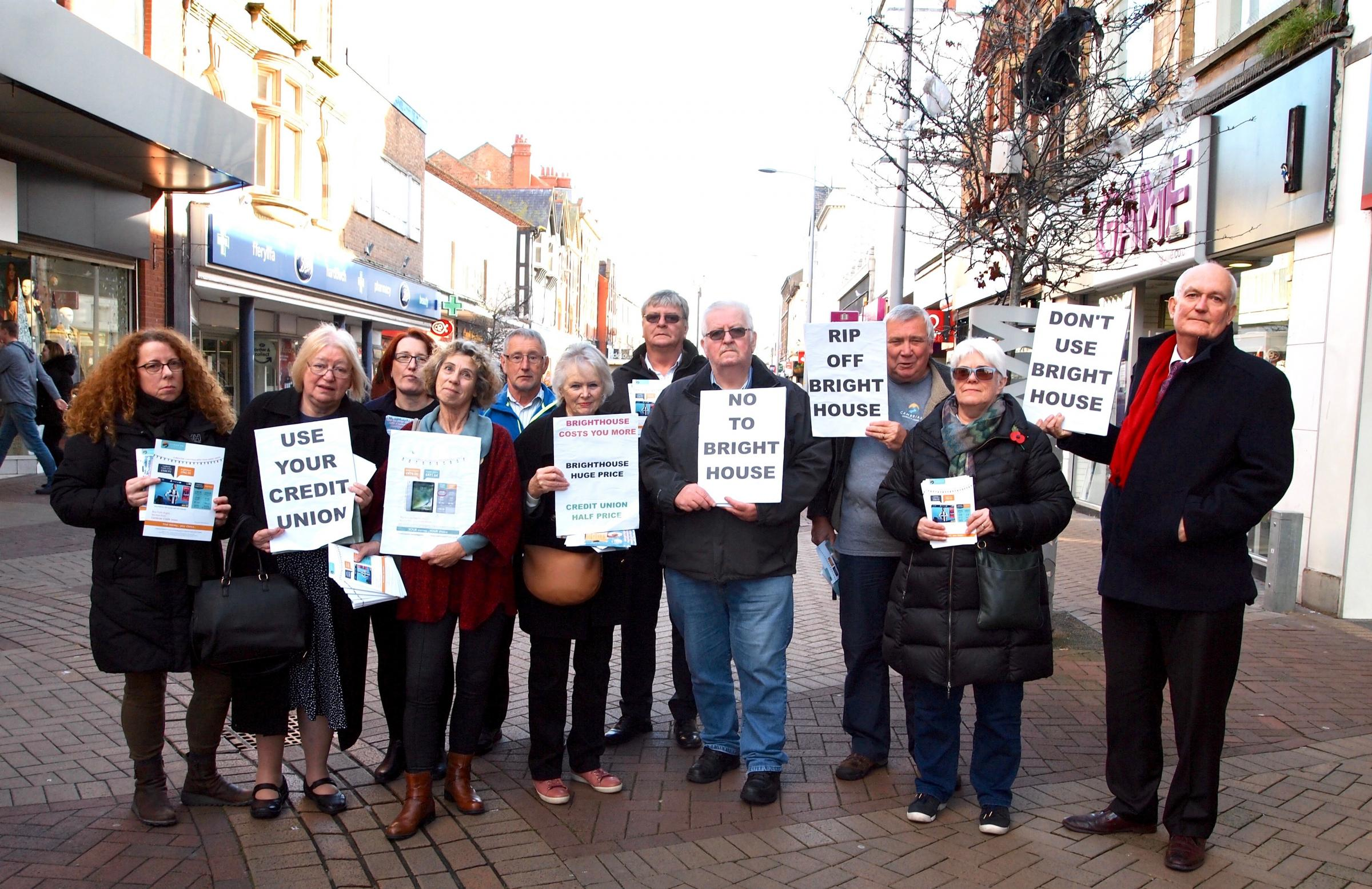 Cambrian protest Rhyl.