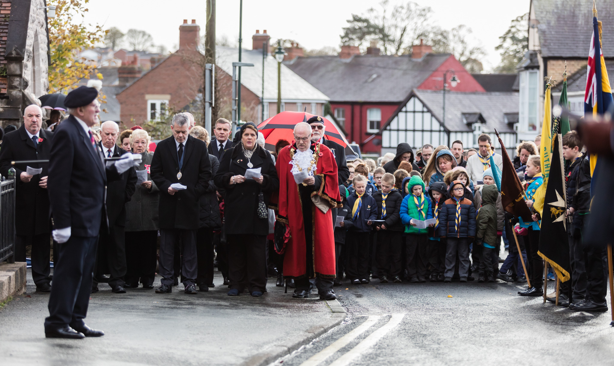 Local residents of all ages gathered to pay their respects on Remembrance Sunday in Ruthin in 2017. Picture: Don Jackson-Wyatt