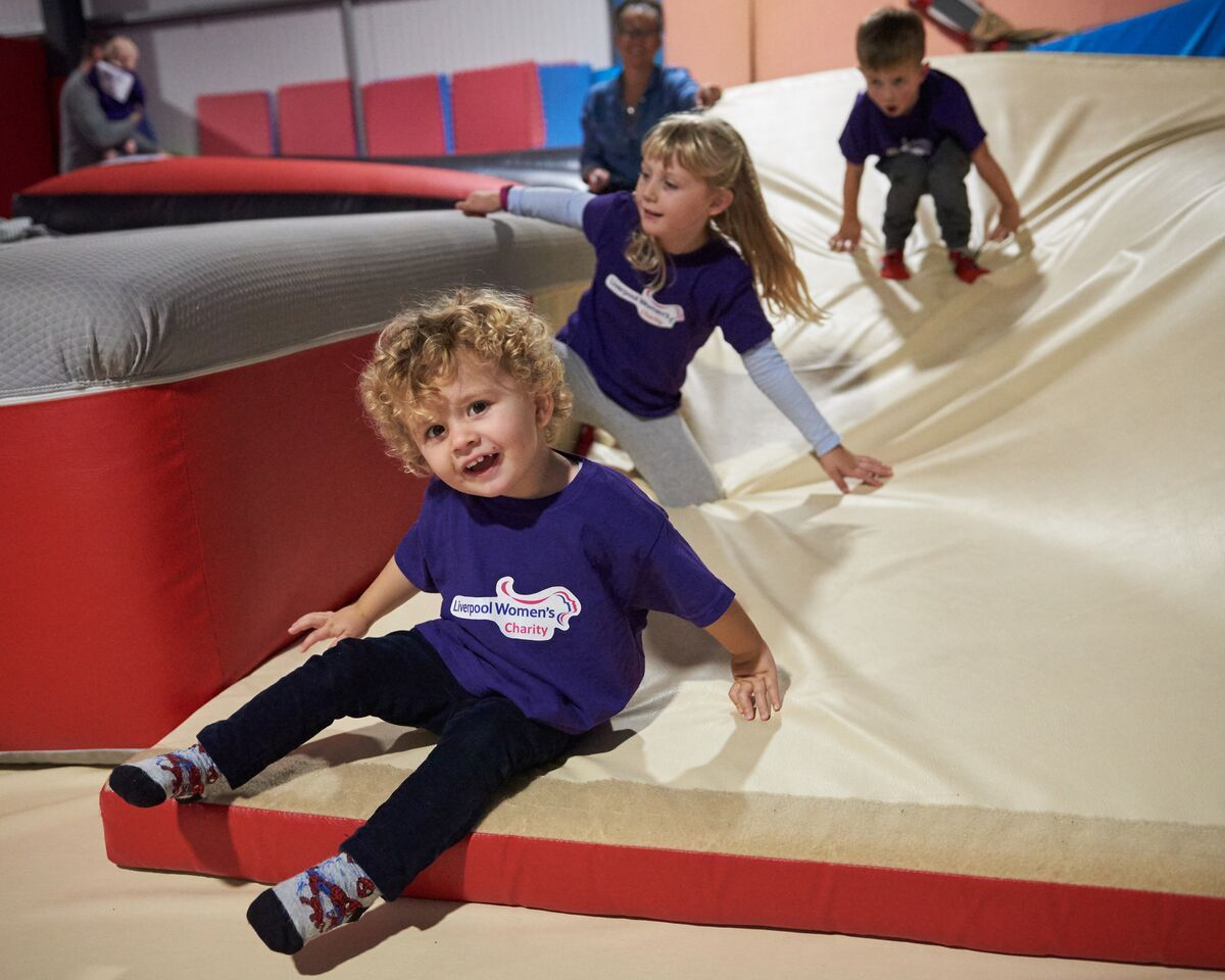 Children take part in the Tough Toddler event at Ruthin and Denbigh Gymnastics Club. Pictures by Ian O'Connor