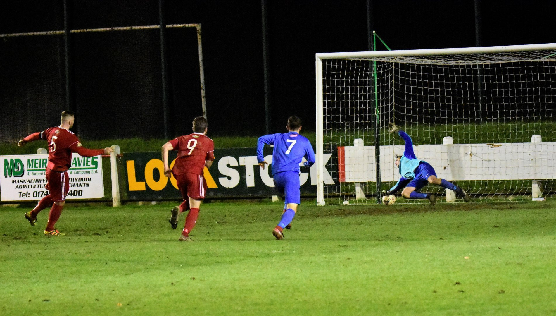 Action from Denbigh Town's 3-1 win over Holyhead. Picture: Steve Whitfield