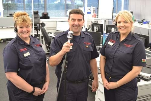 North Wales Fire and Rescue Service staff (from left) Bethan Jones, Paul Scott and Gwenan Hughes.