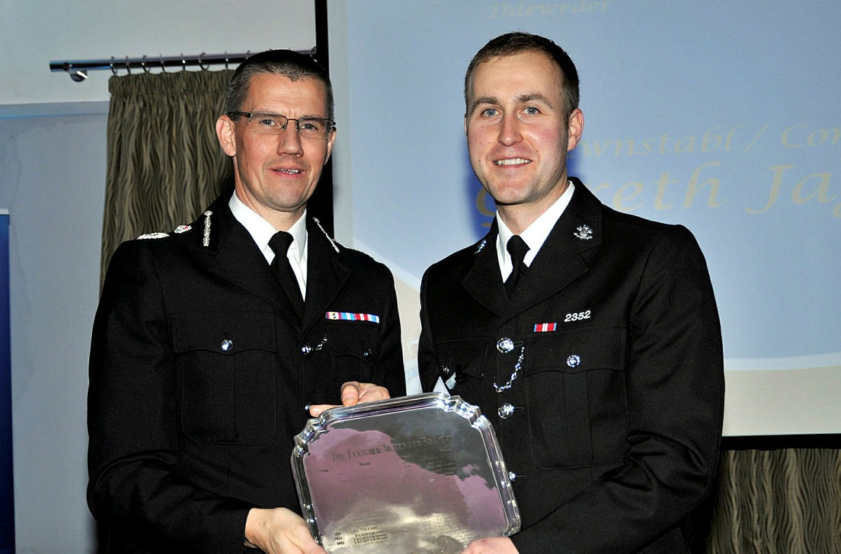 Mr Jaggard (right) with chief contable Carl Foulkes. Picture: North Wales Police