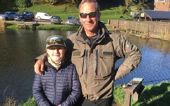 James Penwright with actor Robson Green