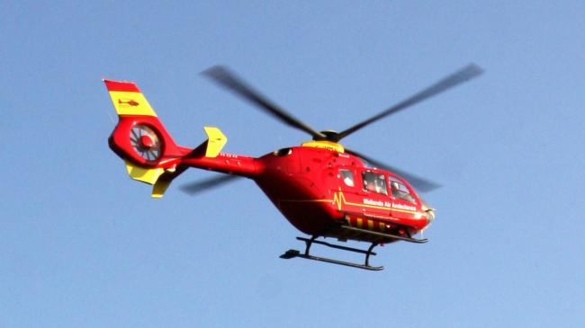 The woman was taken to Wrexham Maelor Hospital.