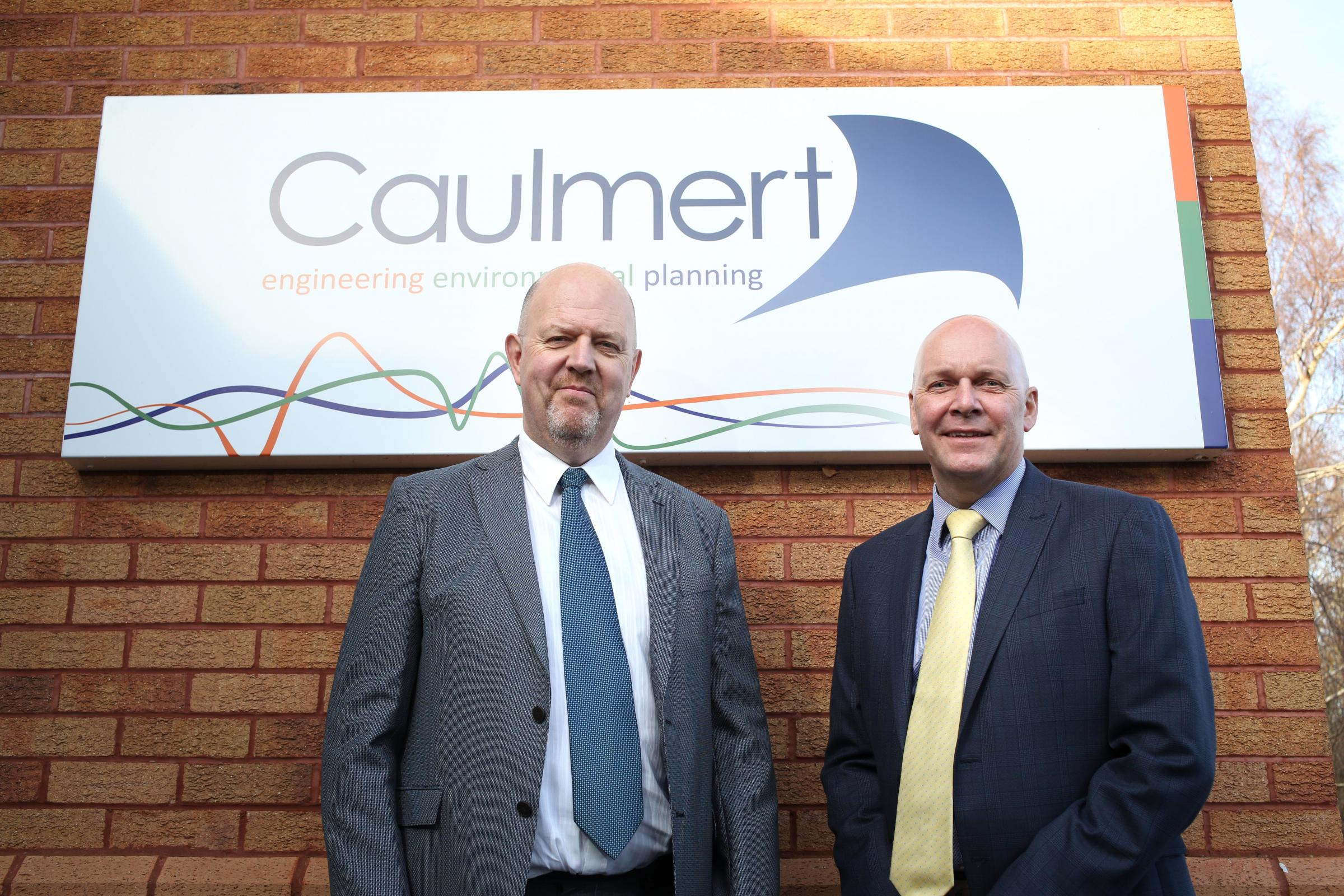 Jon Hartley, (left) the newest member of the Caulmert team at St Asaph with company founder and MD Mike Caulfield