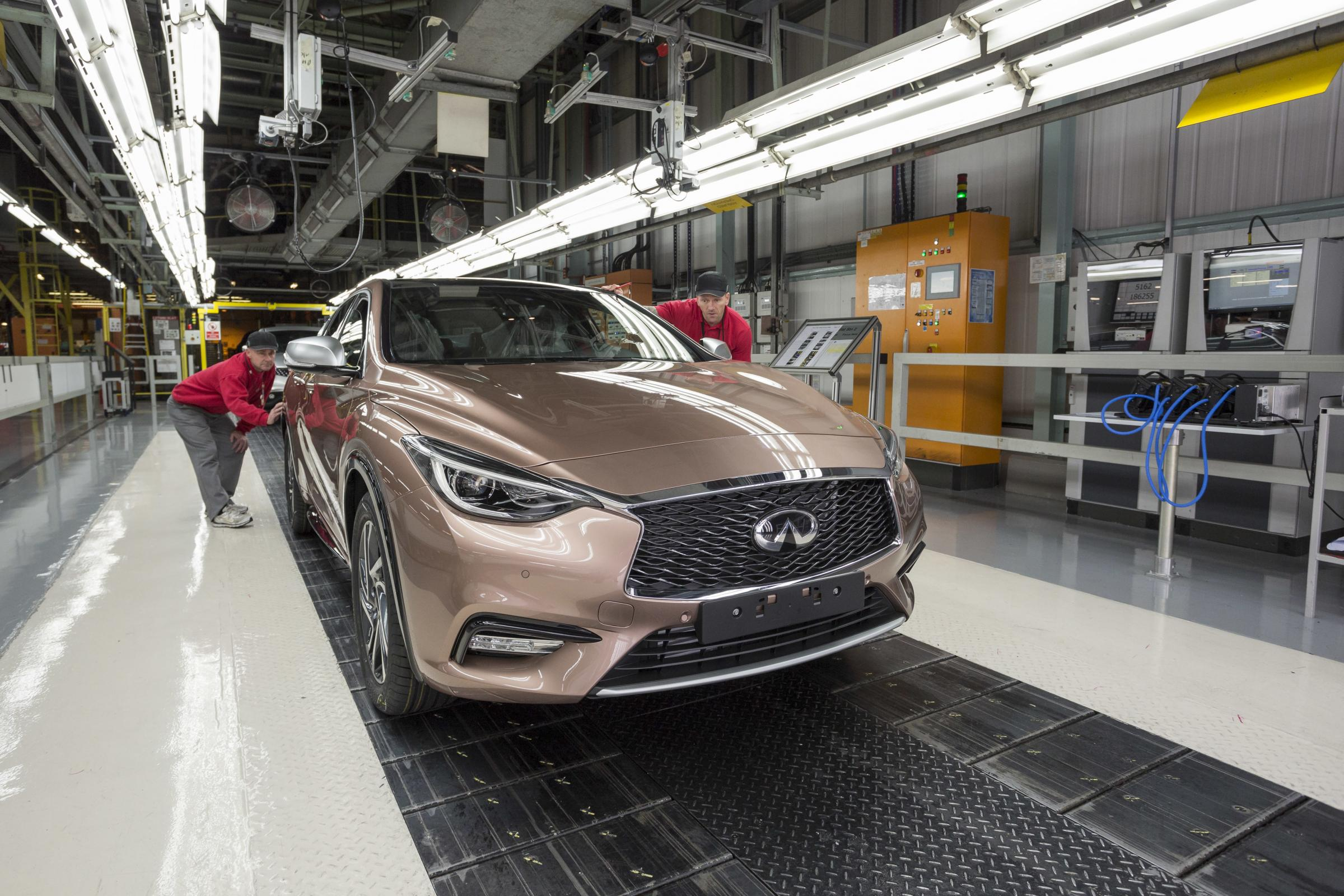 JOBS RISK: Production of the Infiniti Q30 is to cease at Nissan this year