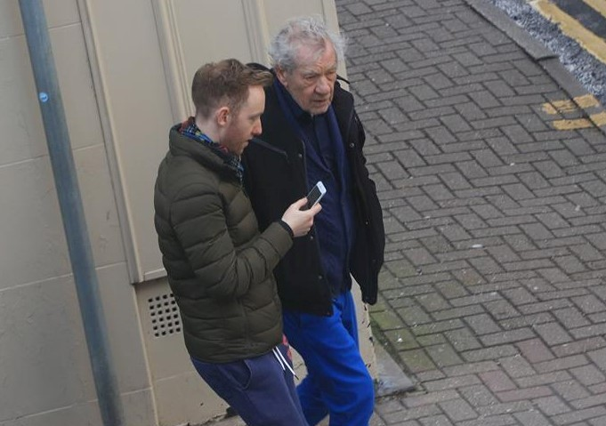 Sir Ian McKellen was spotted in Llangollen over the weekend. PICTURE: Jason Kirkham.