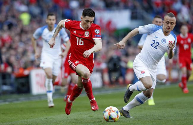 Harry Wilson in action for Wales. PIC: Darren Staples.