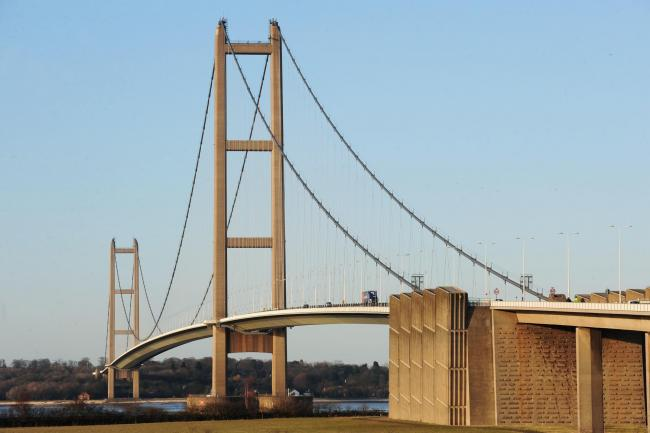 The lorry was stopped near the Humber Bridge