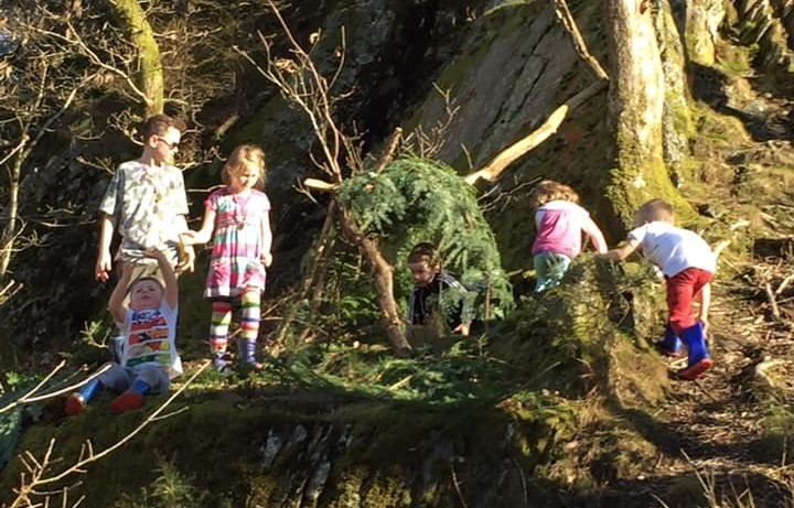 A forest school session at Pen Y Pigyn woods