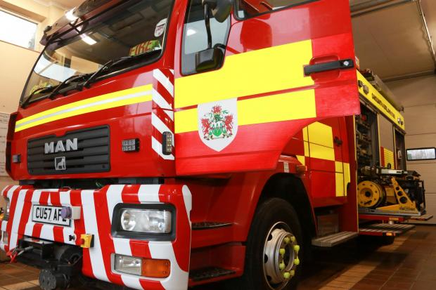 North Wales fire engine.