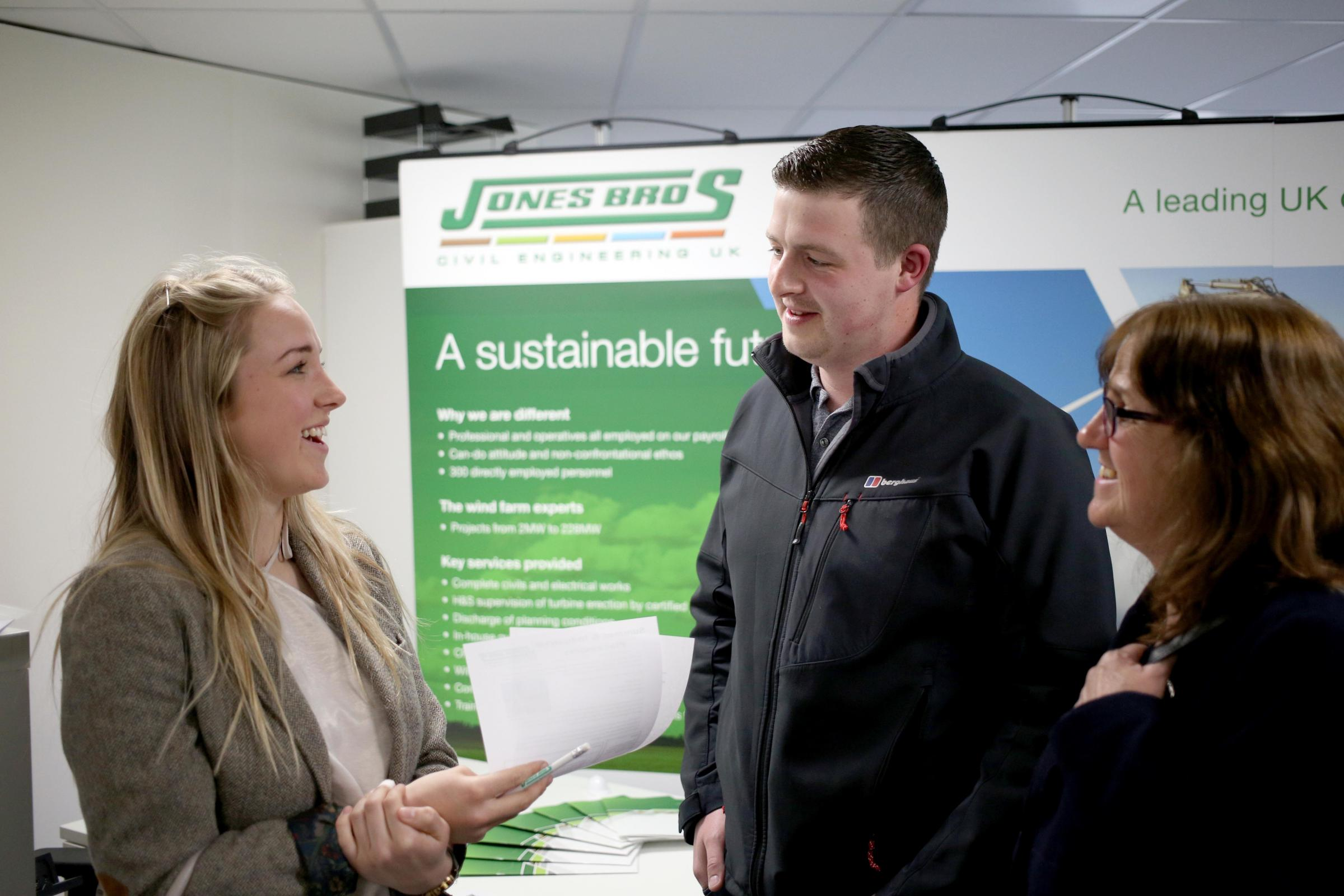 A previous careers event held by Jones Bros Civil Engineering UK at its head office in Ruthin