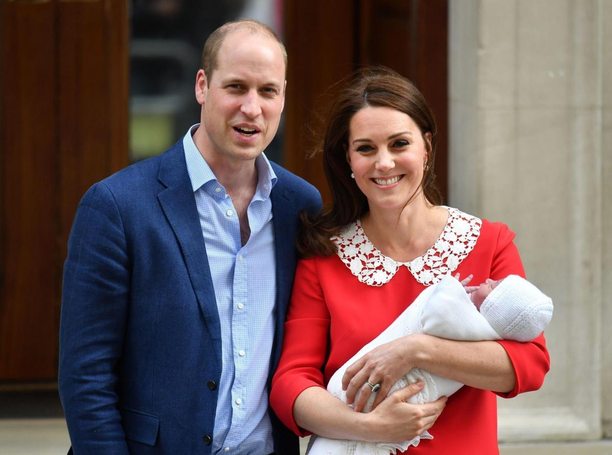 Prince William with Kate and Prince Louis