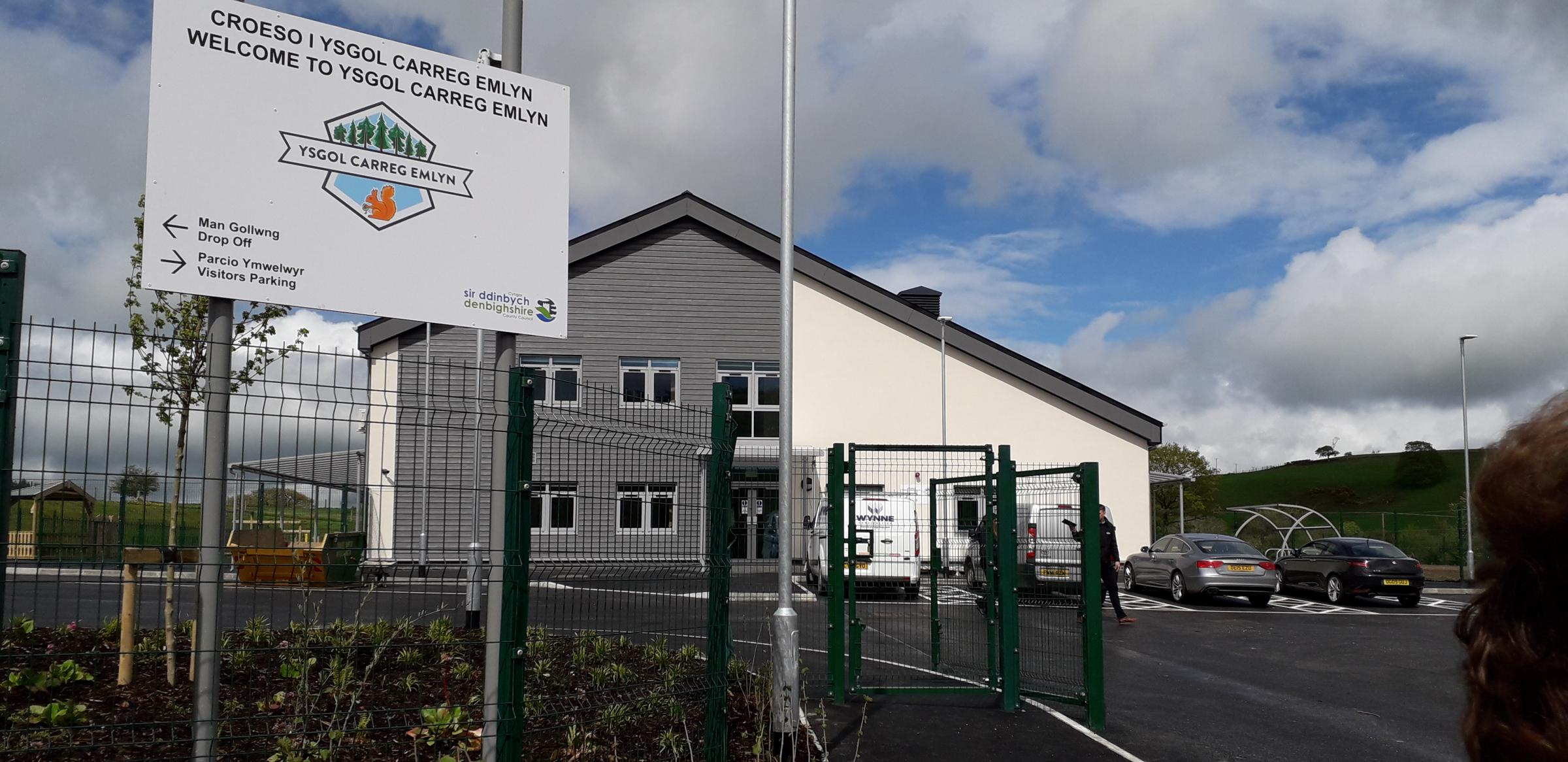 First look at the brand-new Ysgol Carreg Emlyn building. Picture: Kerry Roberts