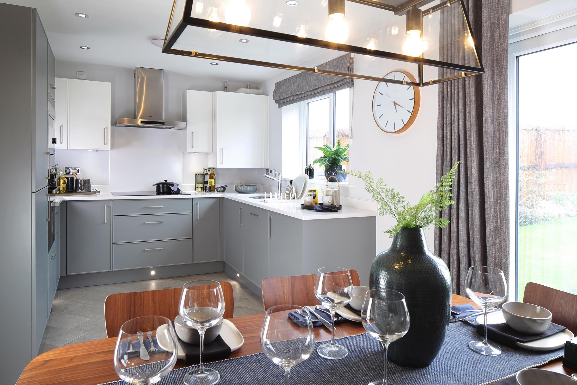A typical Taylor Wimpey kitchen, which will be available on Glasdir Estate. Picture: Martin J. Toole/