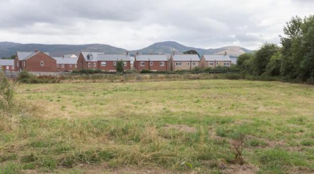 Denbighshire Free Press: Land on Glasdir estate. Picture: Don Jackson-Wyatt.