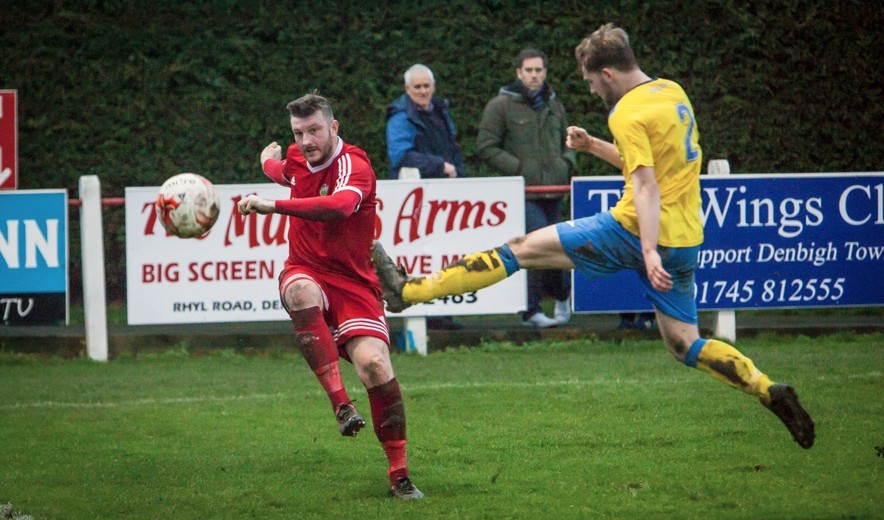 Denbigh Town captain Tony Davies has signed for Flint Town United