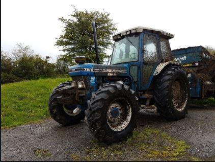 A similar blue coloured Ford 7810 tractor to the one taken in Llanarmon Yn Ial. Picture: Twitter/ NWPRuralCrime