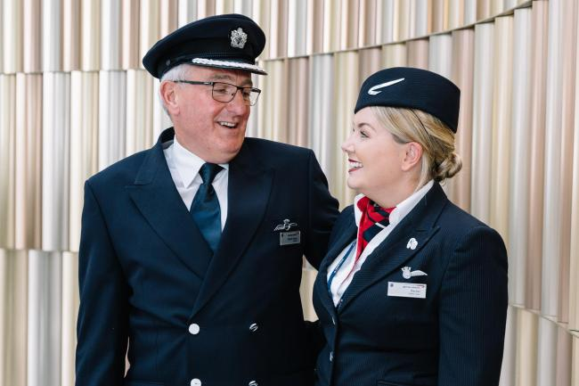 Fathers work alongside sons and daughters on special BA